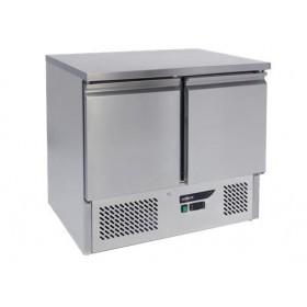 Saladette réfrigérée 2 portes inox GN 1/1
