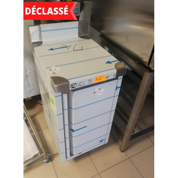 MEUBLE NEUTRE INOX ADOSSE AVEC PORTE - 400x500x1000 MM - DECLASSE