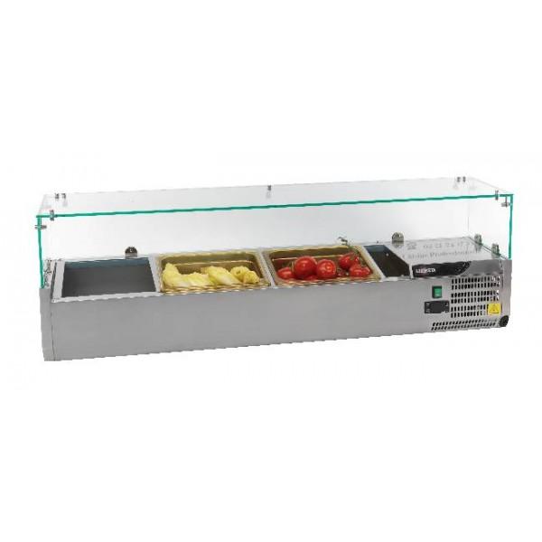 Vitrine à ingrédients réfrigérée profondeur 150 mm