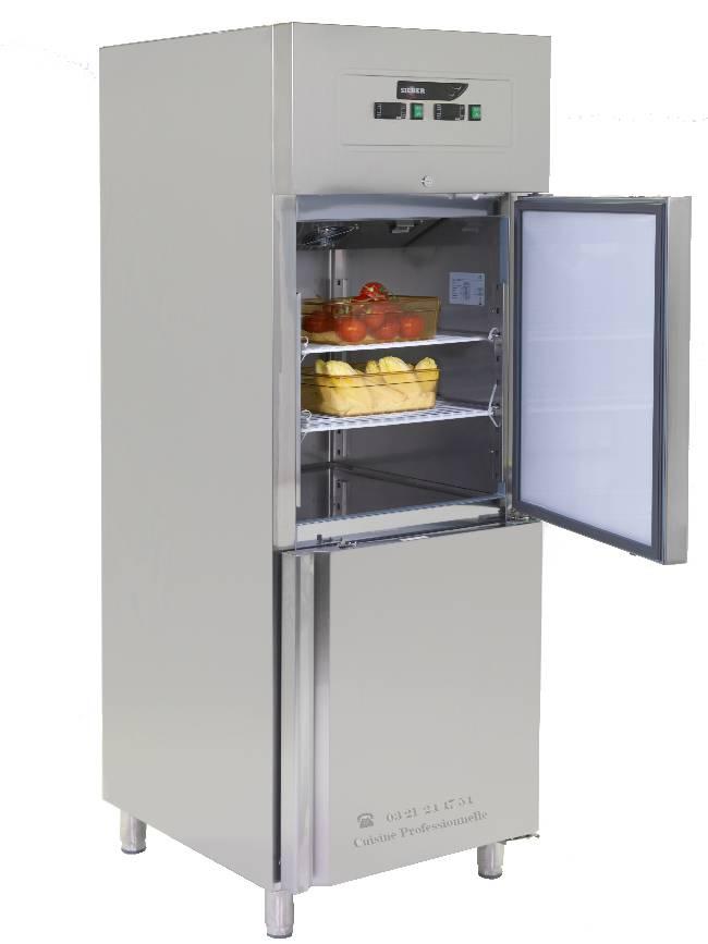 Armoire gn 2 1 bi temp rature inox - Armoires refrigerees professionnelles ...
