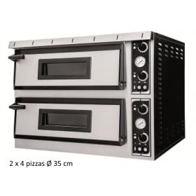 Four à pizza électrique -2 chambres 4 pizzas 35 cm - TOP