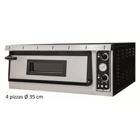 Four à pizza professionnel - 4 pizzas/35 cm TOP - Electrique