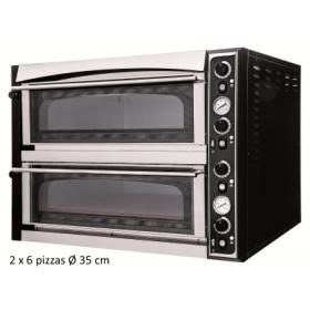 Four à pizza professionnel 2 chambres 6 pizzas/35cm - EXCEL