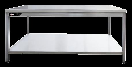 table inox professionnelle 120x70x85 mm avec tag re basse. Black Bedroom Furniture Sets. Home Design Ideas