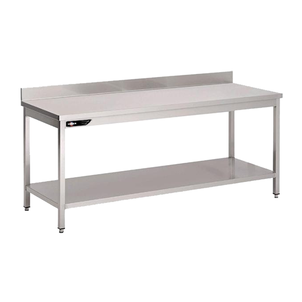 Table inox adoss e professionnelle 80x70x95 mm avec for Table cuisine professionnelle inox