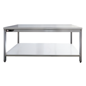 Table de travail inox centrale 2000x700x850 mm avec étagère