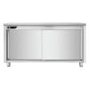 Meuble bas inox central 700x700x850 mm