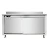 Meuble bas inox professionnel 1400x700x950 mm