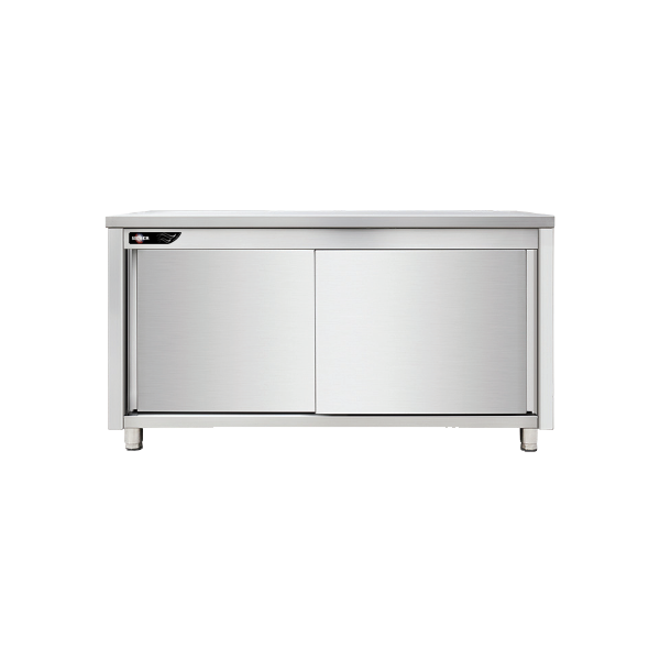 Meuble bas inox central 1600x700x850 mm SILBER
