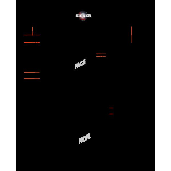 Meuble bas inox adossé 1600x700x950 mm SILBER