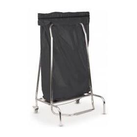 Porte-sac poubelle inox - 110 litres
