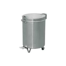 Poubelle cylindrique inox 95 litres