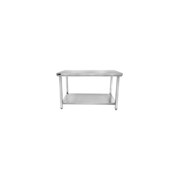 Table inox centrale 2000x600x850 mm avec étagère basse