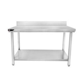 Table professionnelle inox 120x60x95 cm avec dosseret